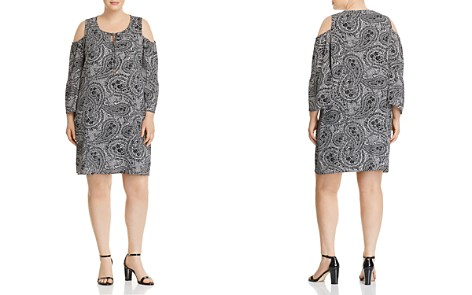 Cupio Plus Paisley-Print Cold-Shoulder Dress - Bloomingdale's_2