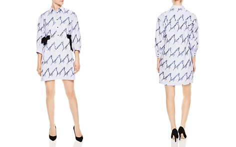 Sandro Modest Sequined Striped Shirt Dress - Bloomingdale's_2