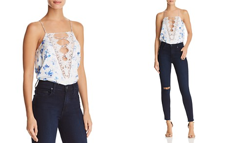 CAMI NYC Charlie Reversible Lace-Up Silk Top - Bloomingdale's_2
