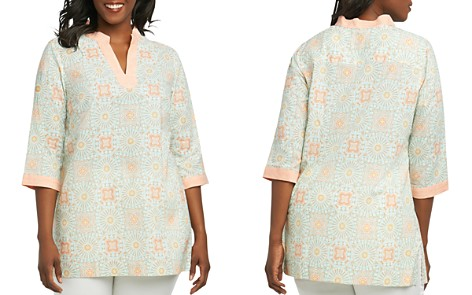 Foxcroft Plus Faith Printed Tunic - Bloomingdale's_2
