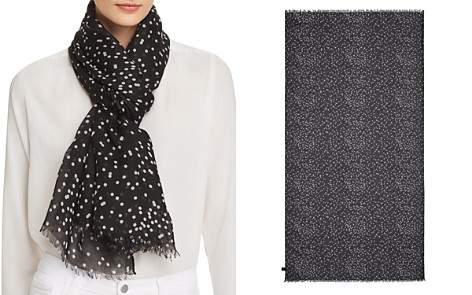 AQUA Confetti Dot Scarf - 100% Exclusive - Bloomingdale's_2