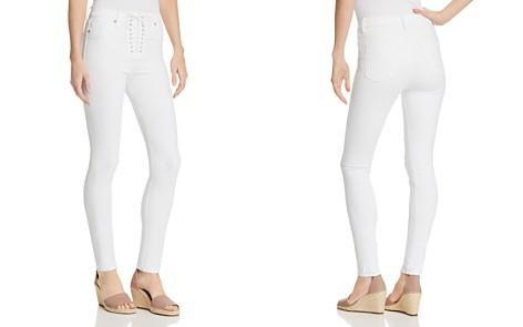 Hudson Bullocks Lace-Up Super Skinny Jeans in White - Bloomingdale's_2