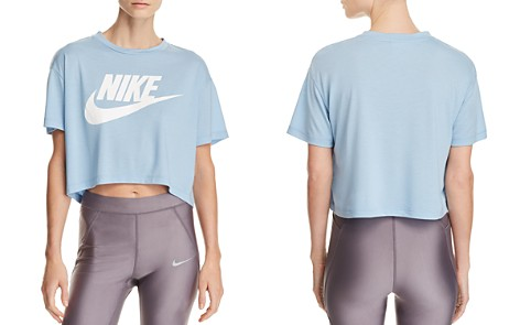 Nike Essential Logo Cropped Tee - Bloomingdale's_2