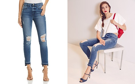FRAME Le High Skinny Released-Hem Stagger Jeans in Hermitage Road - Bloomingdale's_2