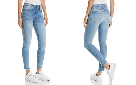 FRAME Le High Skinny Raw-Edge Jeans in Sand Dollar - Bloomingdale's_2