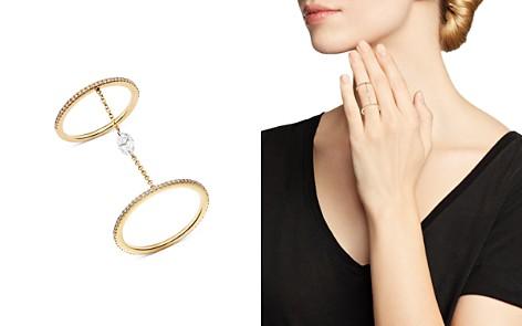 AeroDiamonds 18K Yellow Gold Solo Marquise Diamond Double Eternity Chain Ring - Bloomingdale's_2