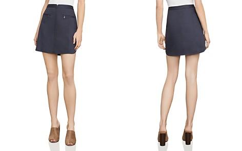 BCBGMAXAZRIA Jania Zip-Front Mini Skirt - Bloomingdale's_2