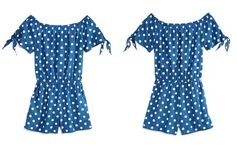 AQUA Girls' Dot-Print Off-the-Shoulder Romper, Big Kid - 100% Exclusive - Bloomingdale's_2