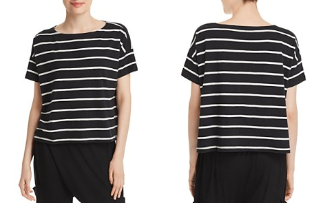 Eileen Fisher Petites Organic-Cotton Striped Boxy Top - Bloomingdale's_2