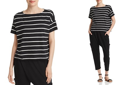Eileen Fisher Striped Boatneck Top - Bloomingdale's_2