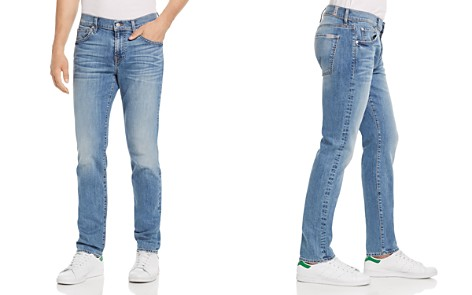 7 For All Mankind Paxtyn Skinny Fit Jeans in Valhalla - Bloomingdale's_2