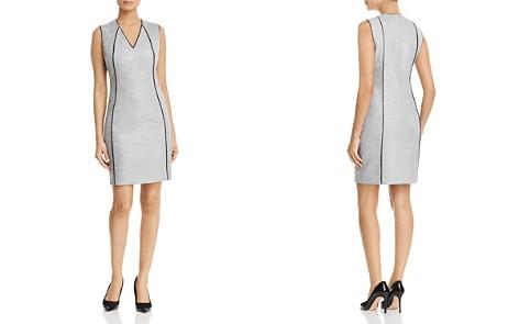 T Tahari Lakira Piped Crosshatch Sheath Dress - Bloomingdale's_2