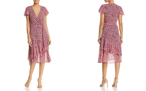 MICHAEL Michael Kors Micro-Floral Ruffled Wrap Dress - Bloomingdale's_2