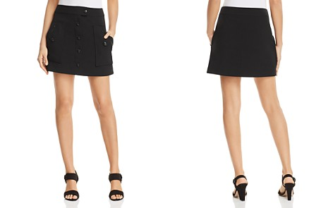 T Tahari Shauney Button-Front Mini Skirt - Bloomingdale's_2