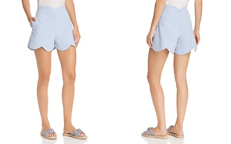 AQUA Scalloped Shorts - 100% Exclusive - Bloomingdale's_2