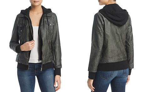 Bagatelle Faux-Leather Layered-Look Hooded Jacket - Bloomingdale's_2