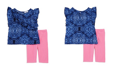 Splendid Girls' Tie-Dyed Ruffle Top & Leggings Set - Baby - Bloomingdale's_2