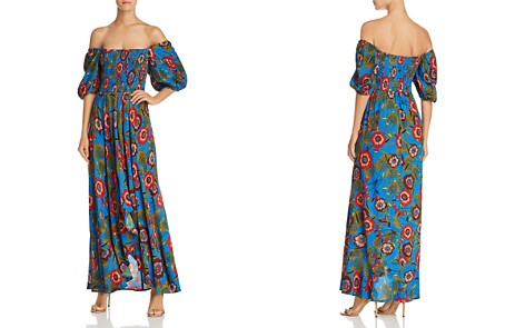 Band of Gypsies Heirloom Blossom Off-the-Shoulder Printed Maxi Dress - Bloomingdale's_2