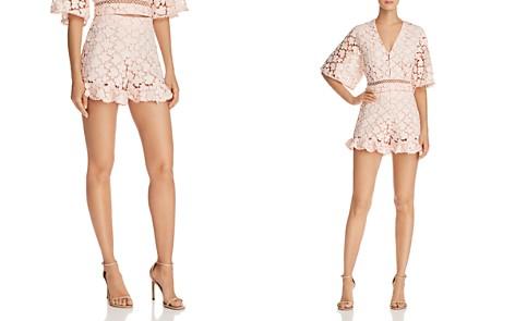 Karina Grimaldi George Ruffle-Hem Lace Shorts - Bloomingdale's_2