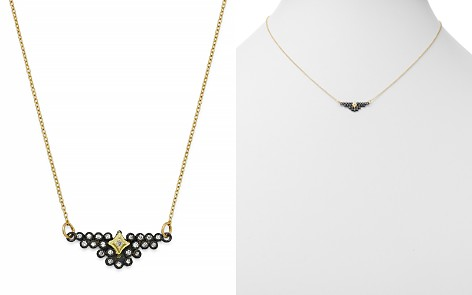 """Armenta Blackened Sterling Silver & 18K Yellow Gold Old World Champagne Diamond Bezel Pendant Necklace, 15.5"""" - Bloomingdale's_2"""
