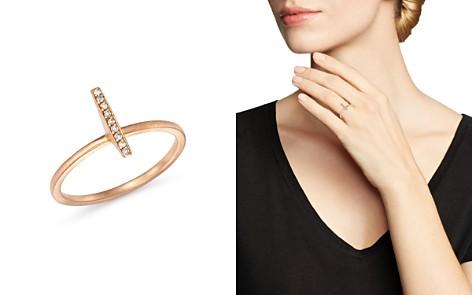 SUEL 18K Rose Gold Diamond Bar Ring - Bloomingdale's_2