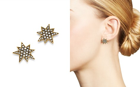 SUEL Blackened 18K Yellow Gold Big Bang Diamond Earrings - Bloomingdale's_2