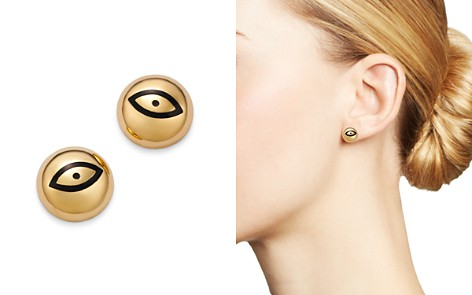 SUEL 14K Yellow Gold Domed Evil Eye Earrings - Bloomingdale's_2