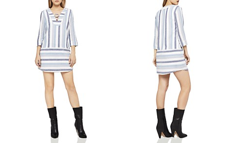 BCBGeneration Lace-Up Striped Dress - Bloomingdale's_2