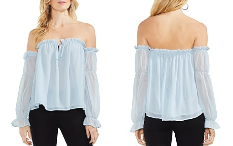 VINCE CAMUTO Ruffled Off-the-Shoulder Top - Bloomingdale's_2