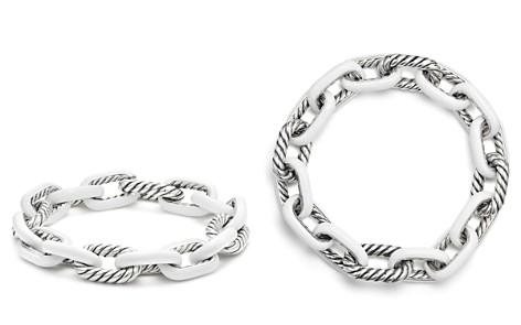 David Yurman Madison Chain Enamel Large Bracelet in White - Bloomingdale's_2
