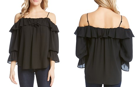 Karen Kane Ruffled Cold-Shoulder Top - Bloomingdale's_2