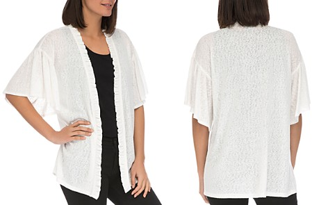 B Collection by Bobeau Marianne Ruffle-Trim Open Cardigan - Bloomingdale's_2