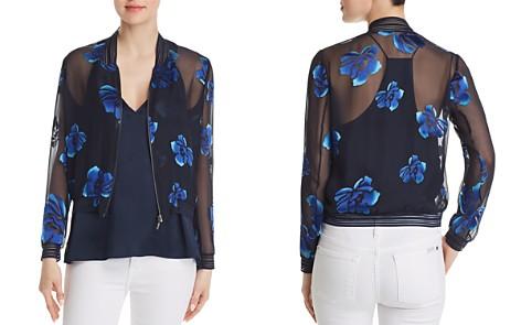 Elie Tahari Brandy Sheer Floral Bomber Jacket - Bloomingdale's_2