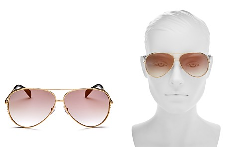 Moschino Women's 007 Mirrored Aviator Sunglasses, 61mm - Bloomingdale's_2