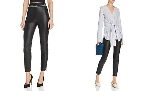 T by Alexander Wang Skinny Leather Pants - Bloomingdale's_2