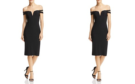 AQUA Off-the-Shoulder Cocktail Dress - 100% Exclusive - Bloomingdale's_2