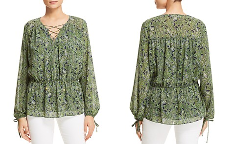 MICHAEL Michael Kors Paradise Paisley Peasant Top - 100% Exclusive - Bloomingdale's_2
