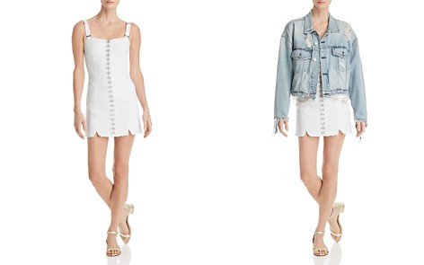For Love & Lemons Monika Denim Mini Dress - Bloomingdale's_2