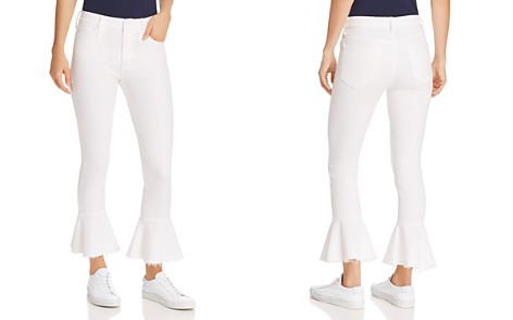 MOTHER The Cha Cha Fray Cropped Flared Jeans in Glass Slipper - Bloomingdale's_2