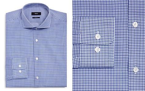BOSS Micro Grid Regular Fit Dress Shirt - Bloomingdale's_2