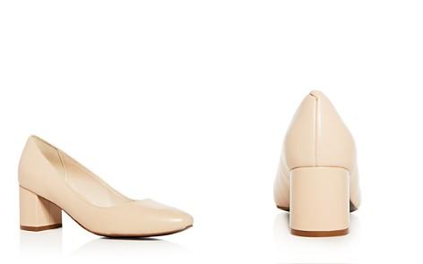 Cole Haan Women's Justine Leather Mid Heel Pumps - Bloomingdale's_2
