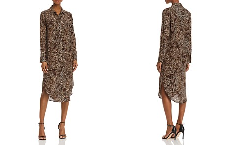 Anine Bing Chelsea Leopard Silk Shirt Dress - Bloomingdale's_2