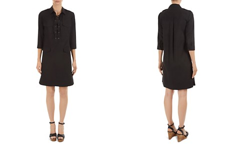Gerard Darel Donata Lace-Up Shirt Dress - Bloomingdale's_2