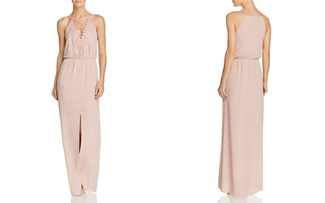 WAYF Prato Lace-Up Crepe Gown - Bloomingdale's_2