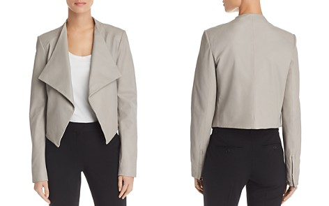 Theory Draped Leather Jacket - Bloomingdale's_2