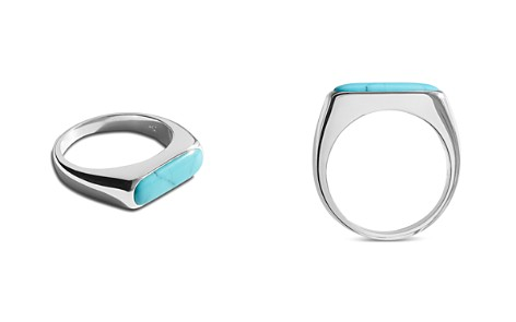 Shinola Sterling Silver Elongated Turquoise Signet Ring - Bloomingdale's_2