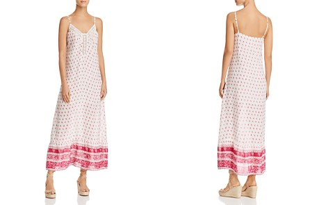 En Créme Crochet-Inset Printed Maxi Dress - Bloomingdale's_2