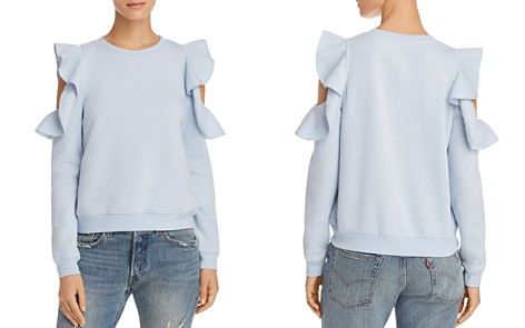 Rebecca Minkoff Gracie Ruffle Cold Shoulder Sweatshirt - 100% Exclusive - Bloomingdale's_2