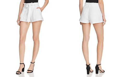 AQUA Textured Paperbag-Waist Shorts - 100% Exclusive - Bloomingdale's_2