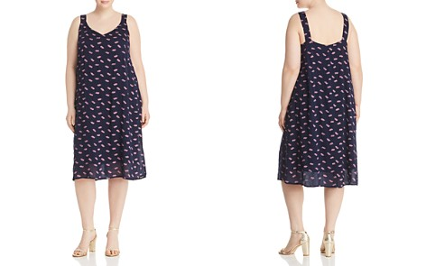 B Collection by Bobeau Curvy Autumn Printed Slip Dress - Bloomingdale's_2